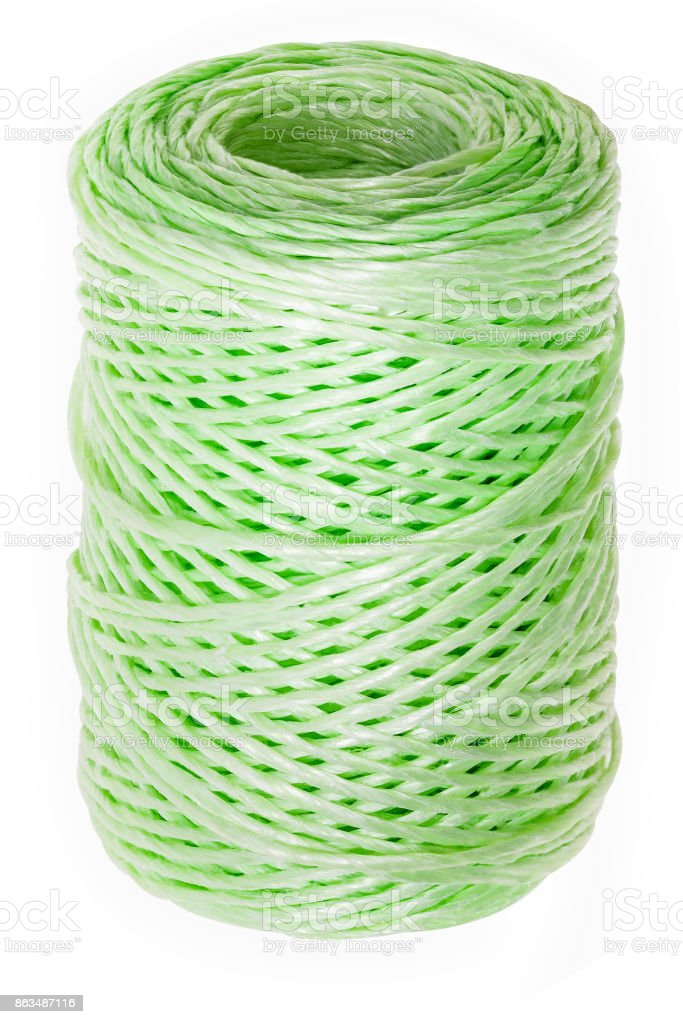 Roll twine isolated on white stock photo