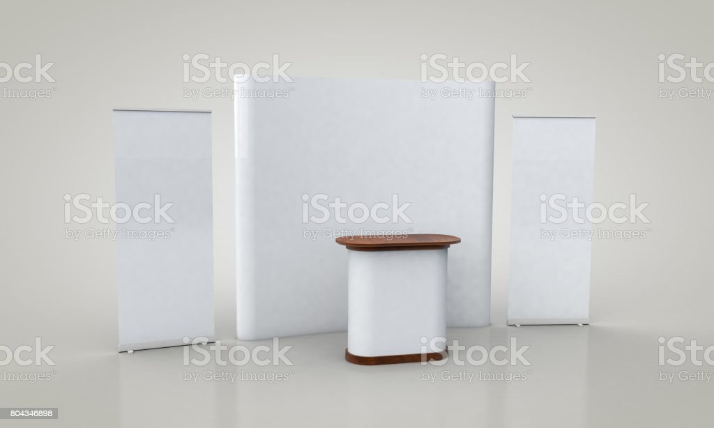 Exhibition Booth Blank : Blank white trade exhibition booth system stand u stock photo