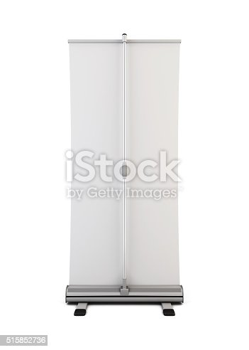 istock Roll up back view isolated on white background. 3d. 515852736