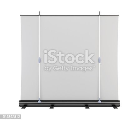 istock Roll up back view isolated on white background. 3d. 515852812