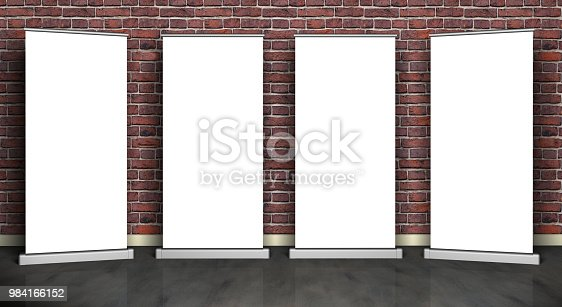 136699912 istock photo roll up white gallery 984166152