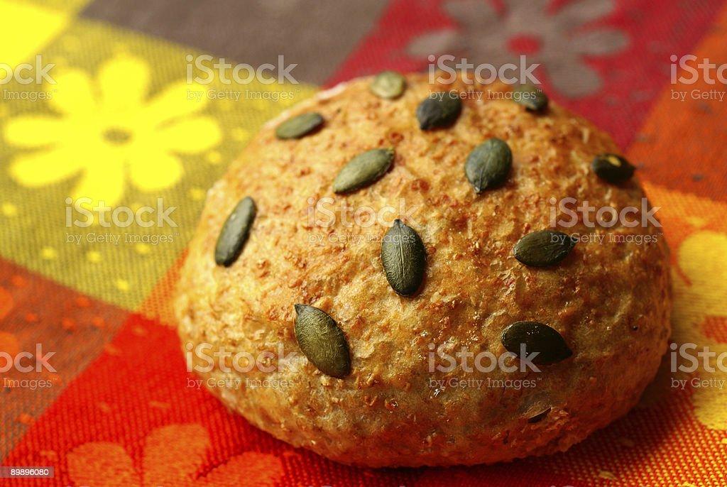 Рулет с Семя тыквы Стоковые фото Стоковая фотография
