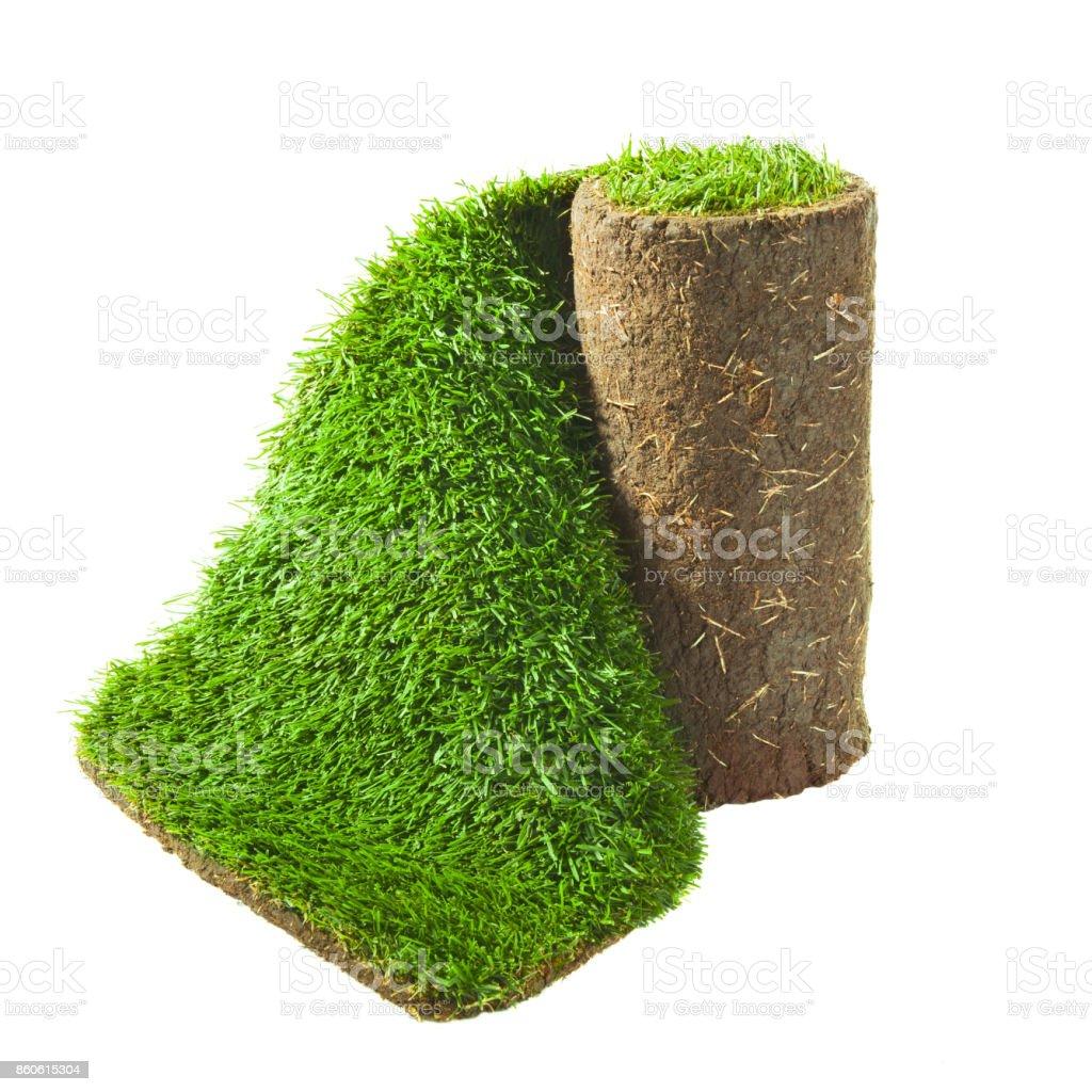 grünen Rasen gerollt – Foto