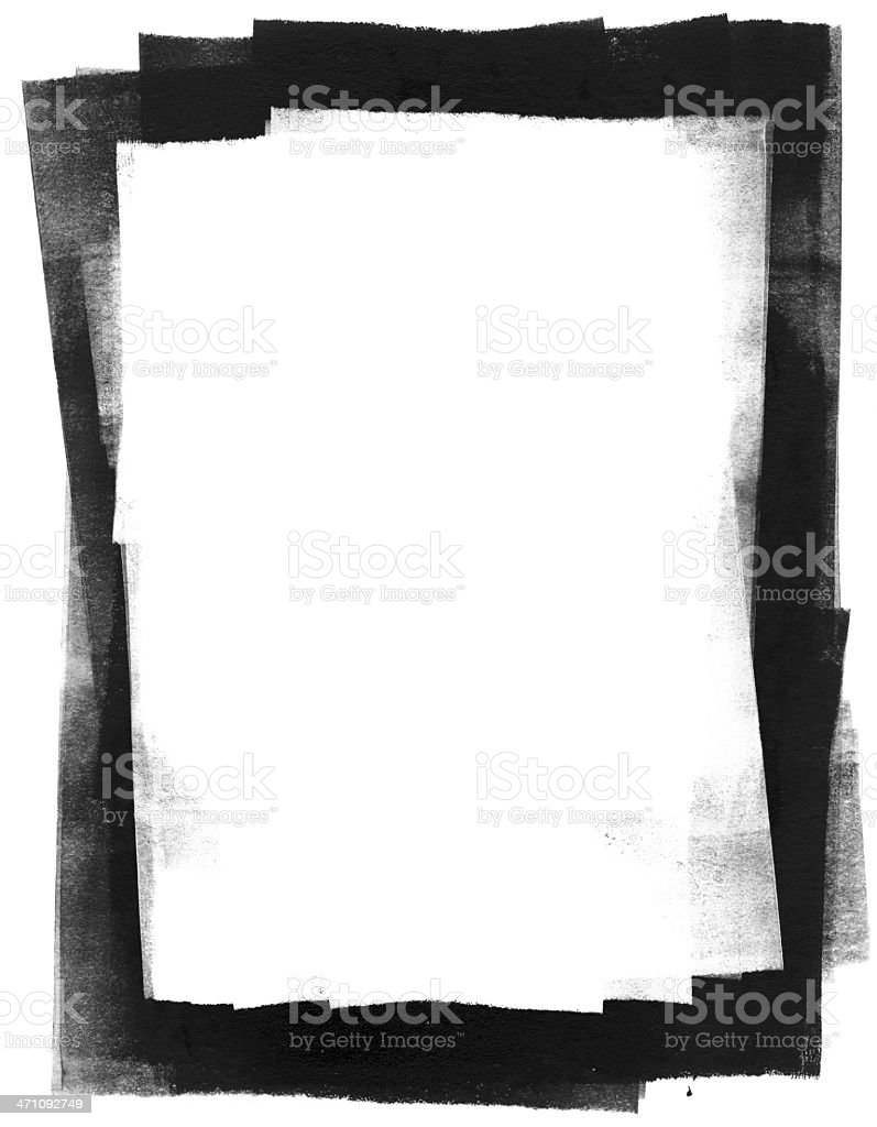 Rolled Ink Frame stock photo