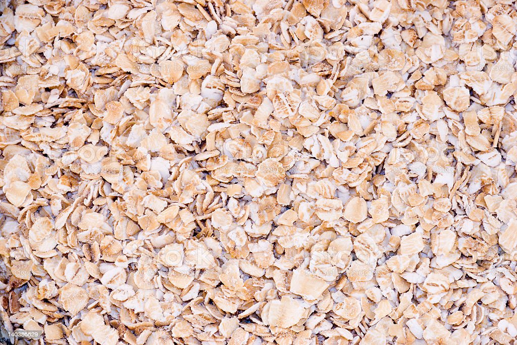 Rolled Oats Background royalty-free stock photo