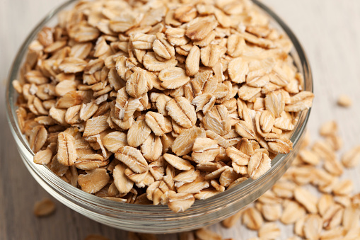 Rolled Oats In A Bowl Stock Photo - Download Image Now