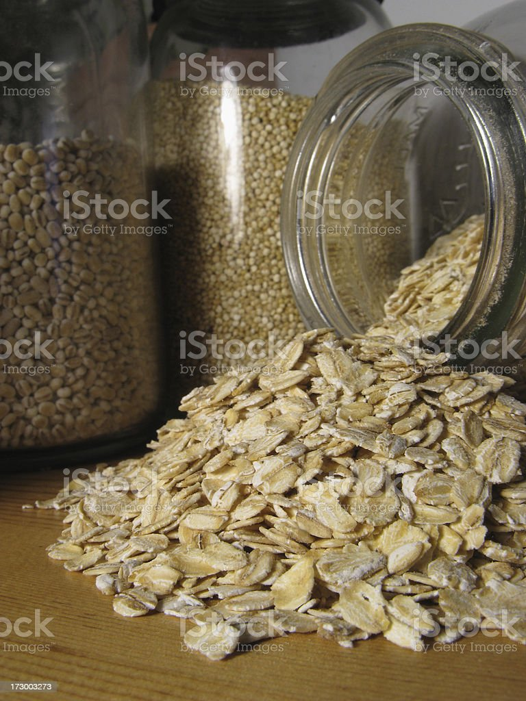 Rolled Oats royalty-free stock photo