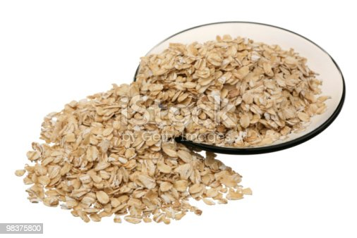 Rolled Oats Stock Photo & More Pictures of Circle