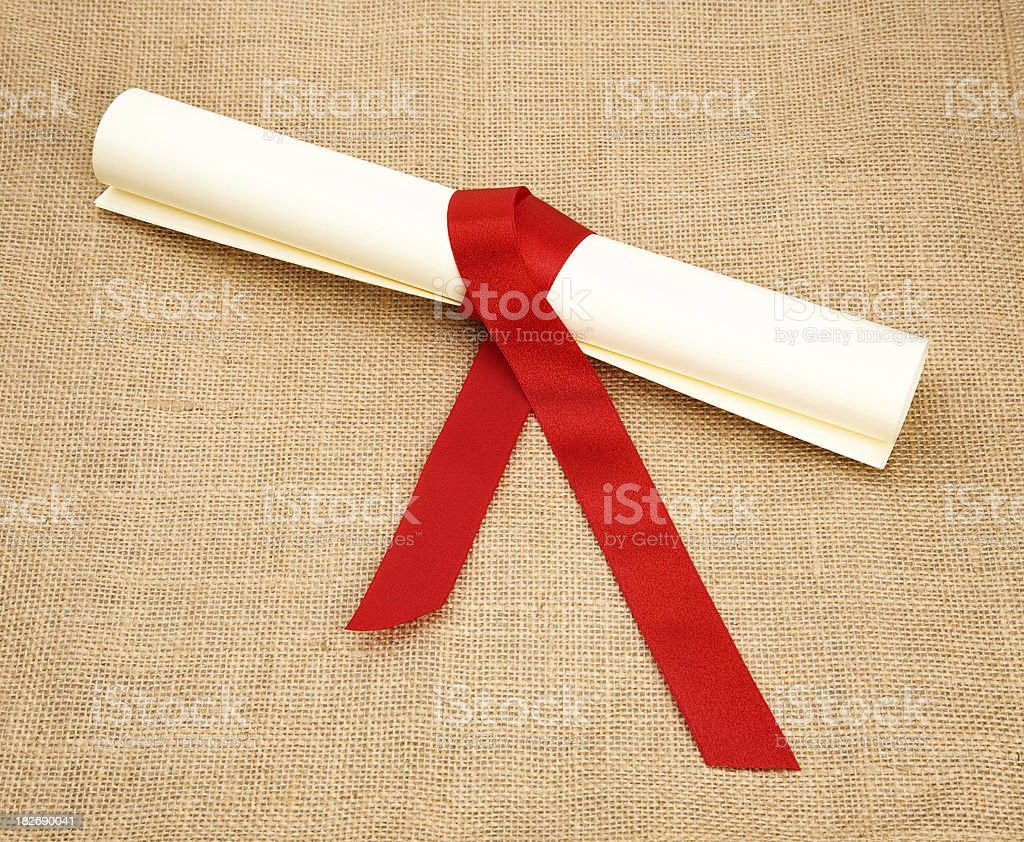 rolled paper stock photo