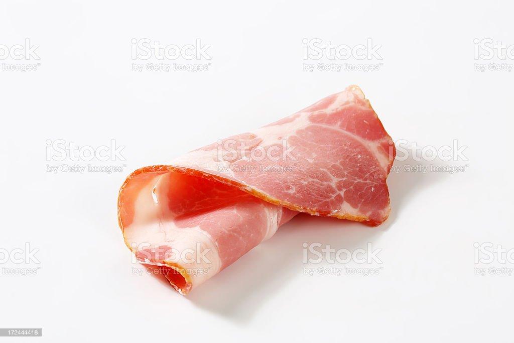 rolled pork slice royalty-free stock photo