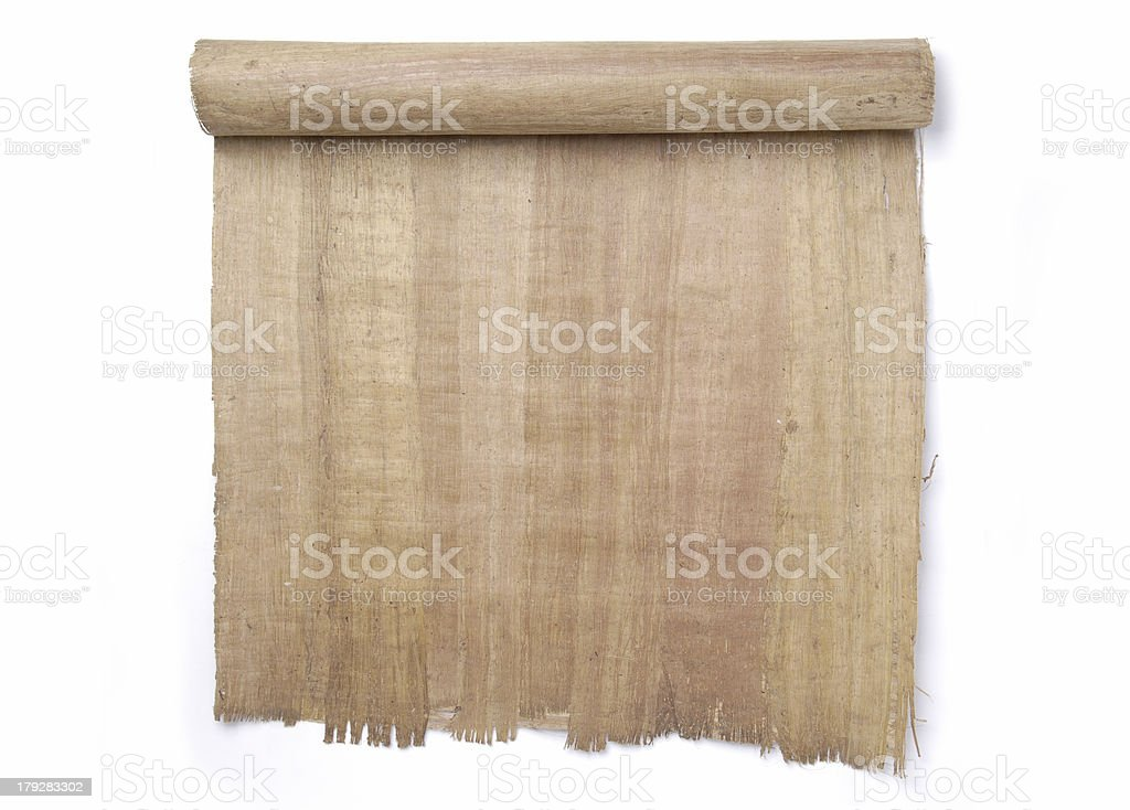 Rolled Scroll royalty-free stock photo