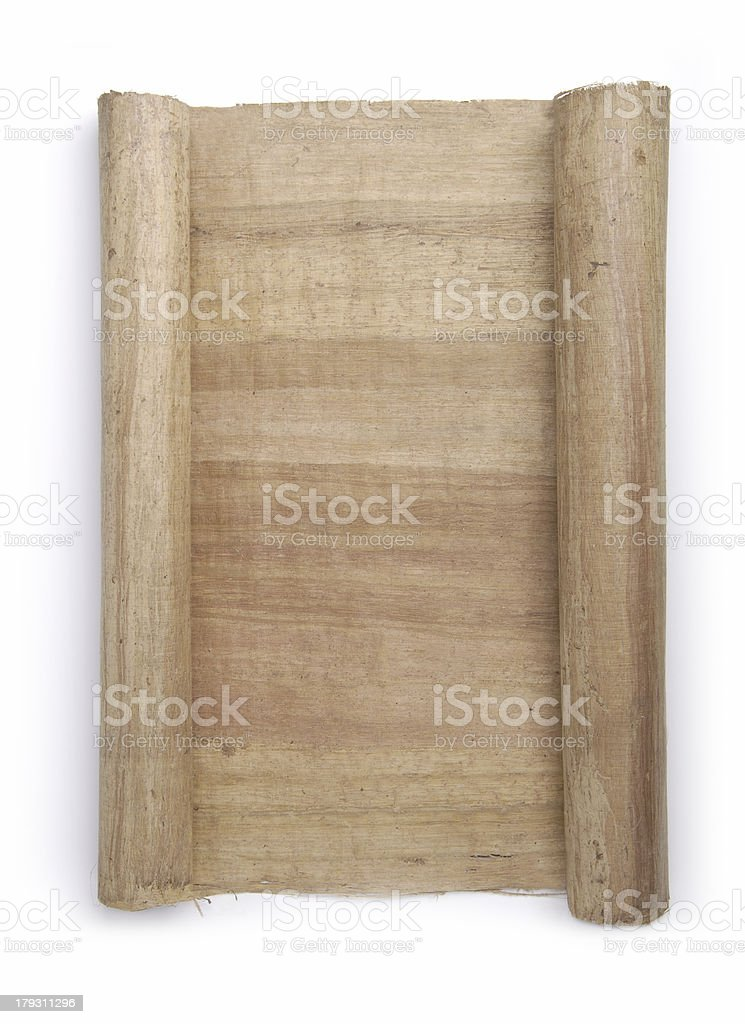 Rolled Scroll stock photo