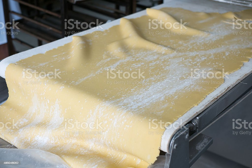 Rolled Sheet of Pie Crust Dough stock photo