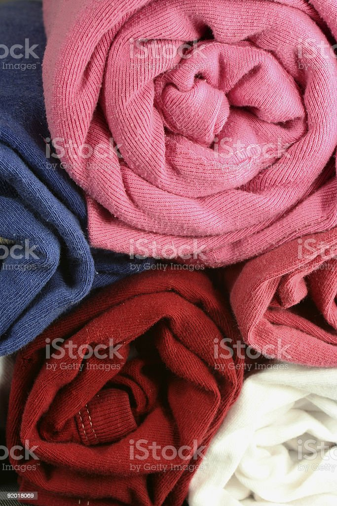 rolled shirts royalty-free stock photo