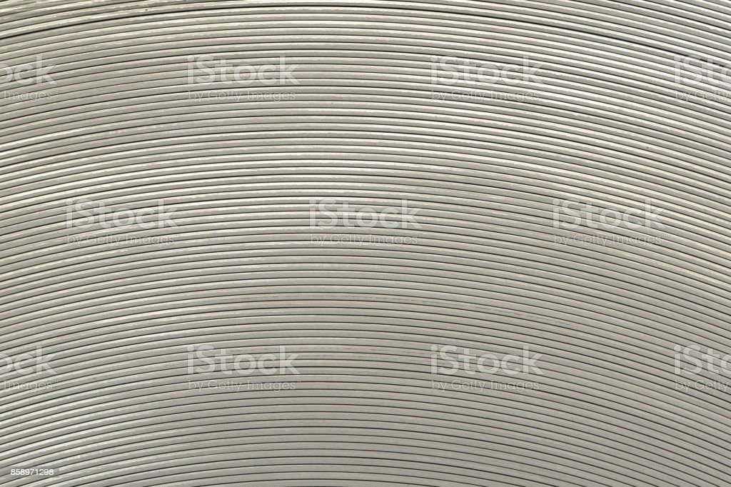 Rolled steel edge, coil center stock photo