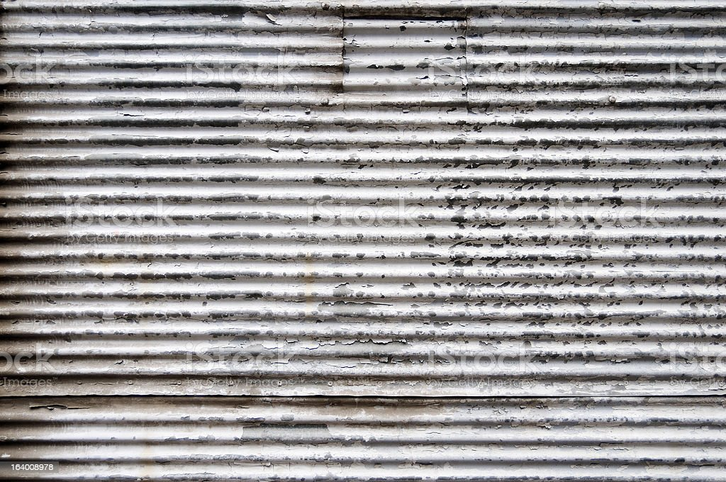 Rolled Steel Shutter Door royalty-free stock photo