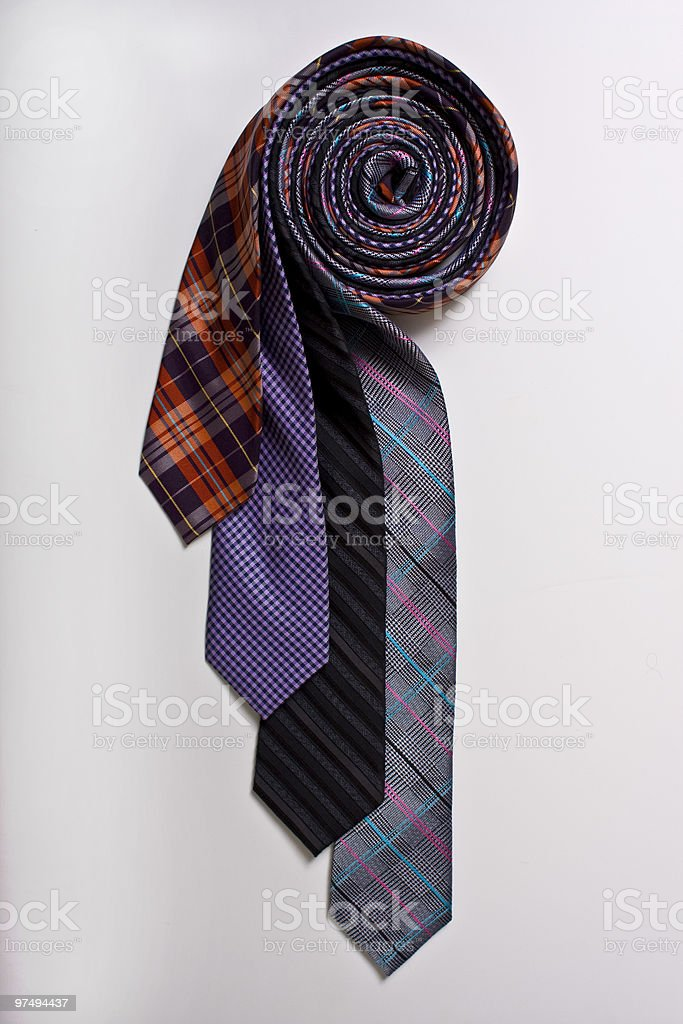 Rolled Ties royalty-free stock photo