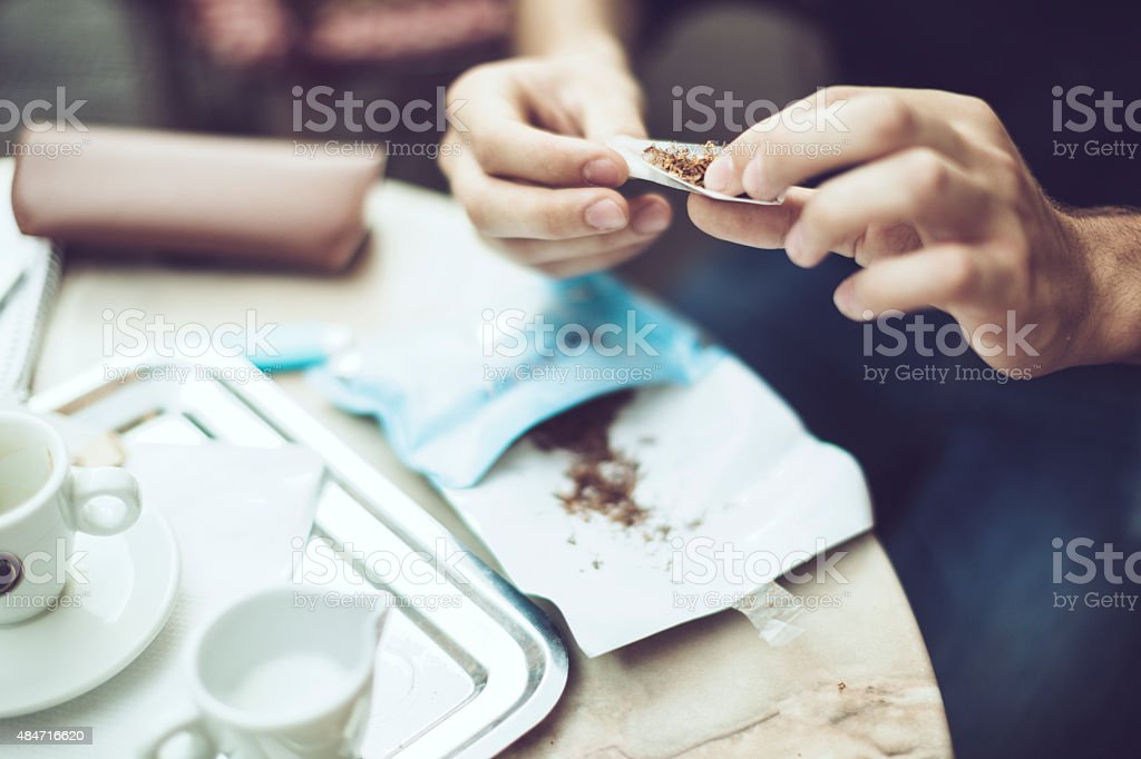 Rolled tobacco stock photo