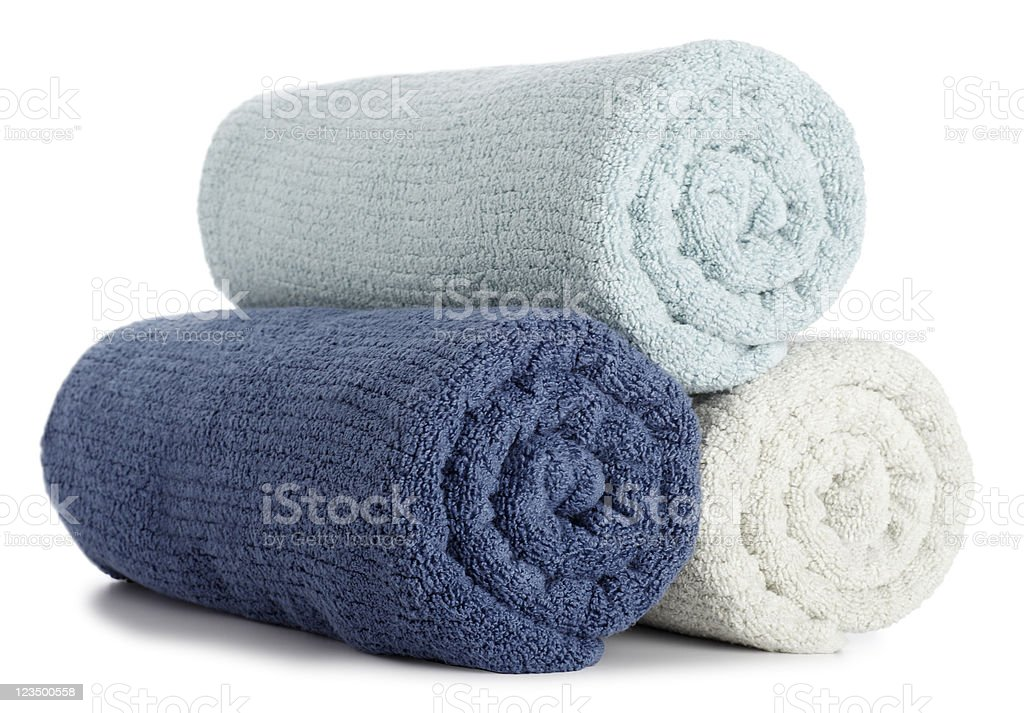 Rolled up Bath Towels stock photo