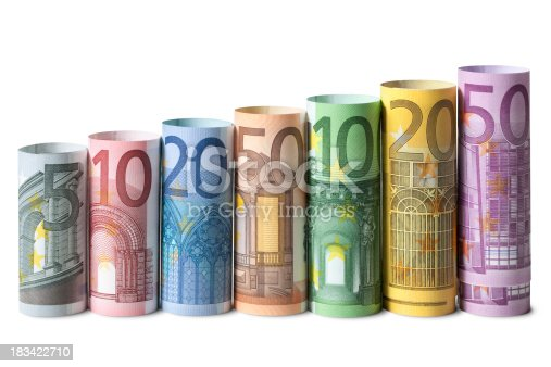 Rolled up euro banknotes. Some similar pictures from my portfolio: