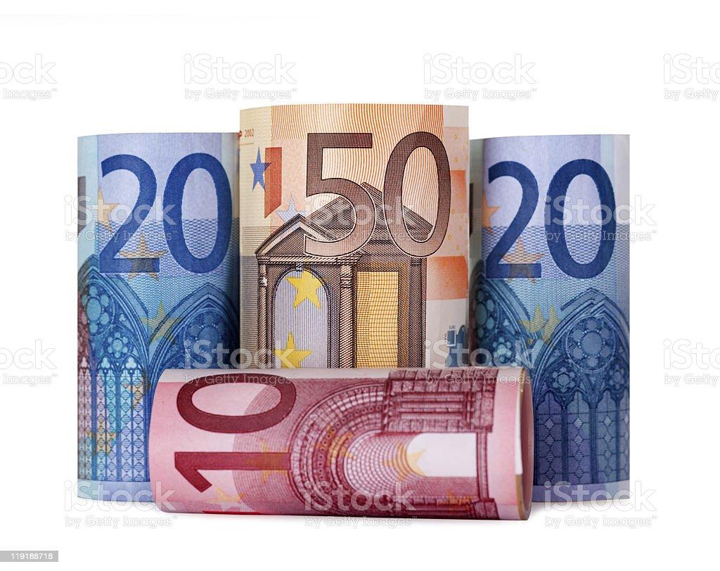 Hochgekrempelte 100 euro – Foto