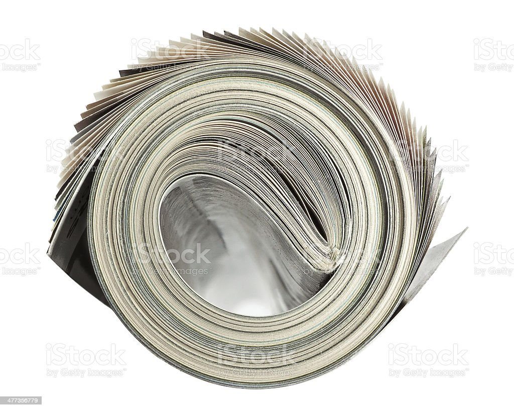 Rolled up Magazine stock photo
