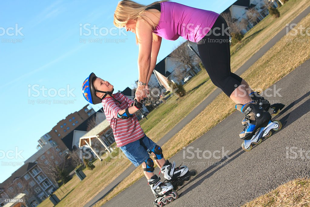 Roller Blade - Help royalty-free stock photo