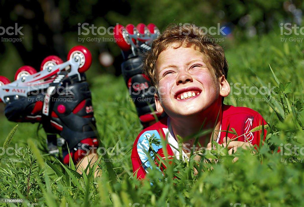 roller boy stock photo