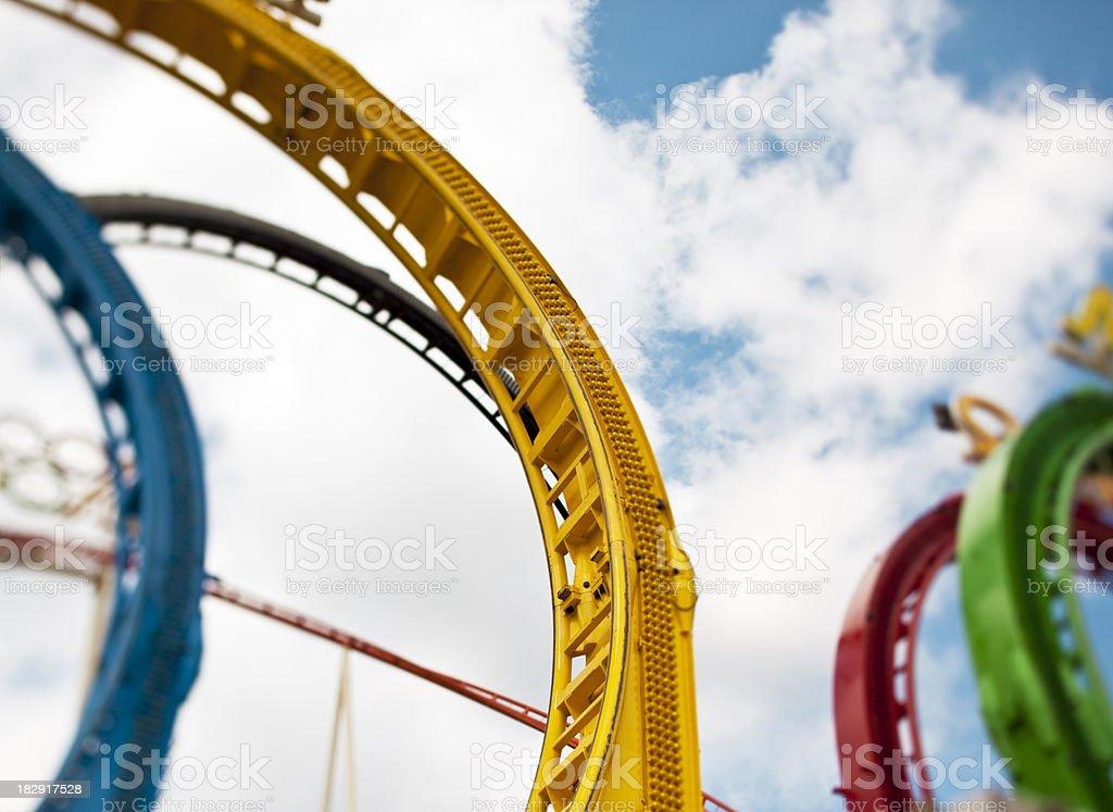 roller coaster detail, tilt shift lens royalty-free stock photo