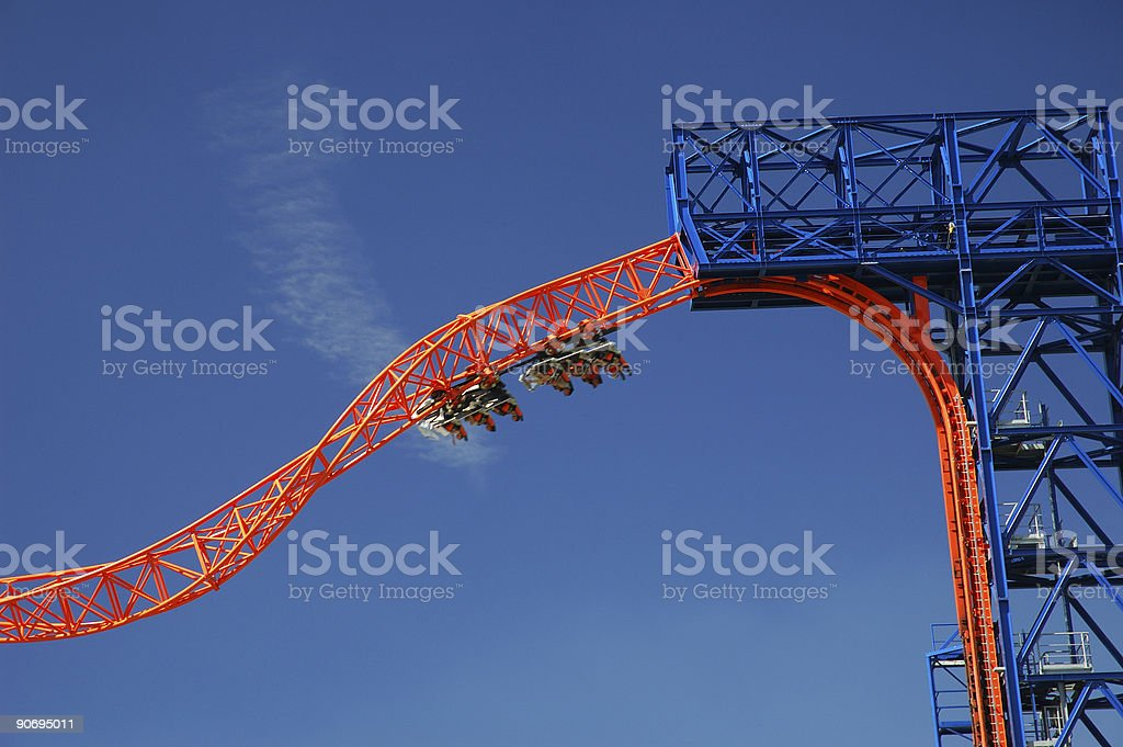 Roller Coaster Fun royalty-free stock photo