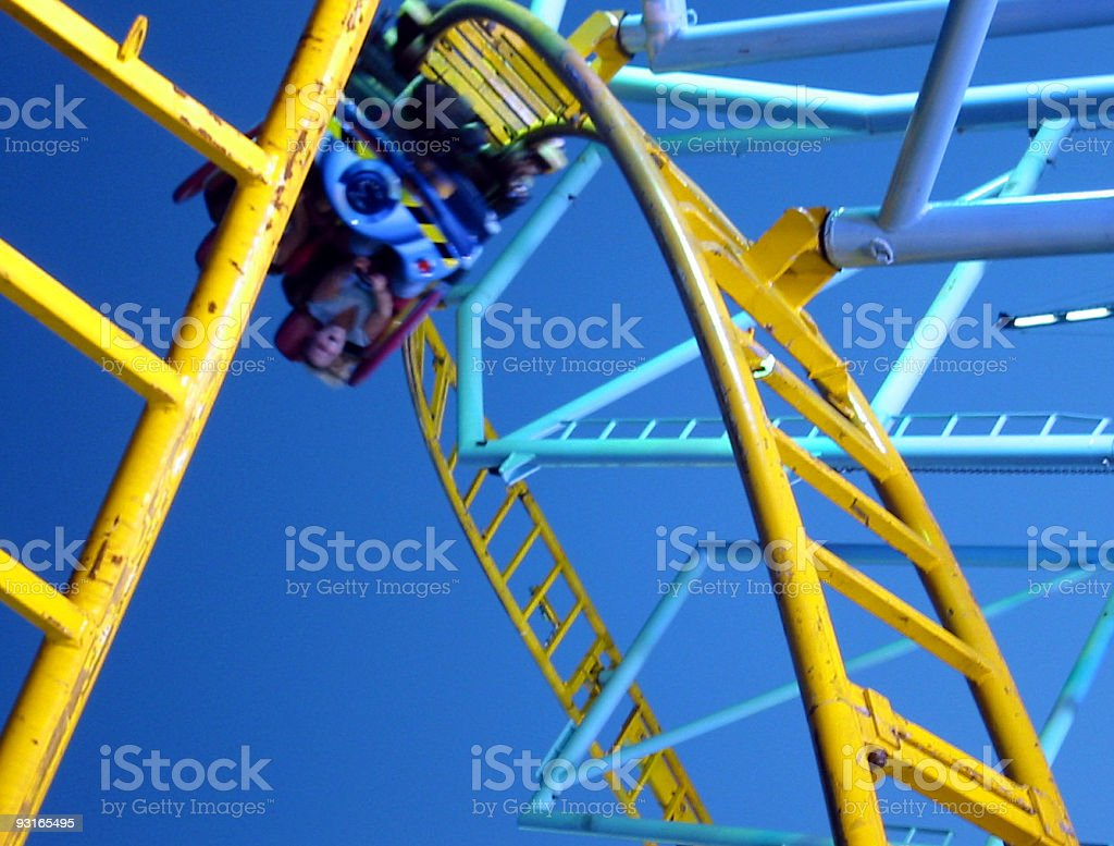Roller coaster in a amusement park royalty-free stock photo