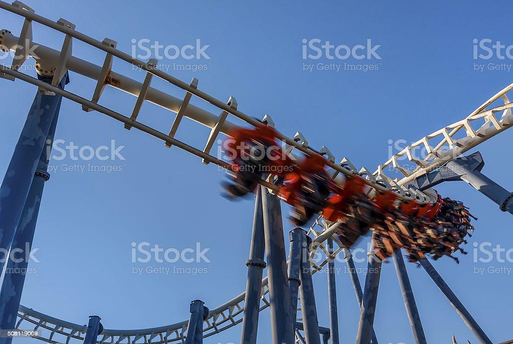 Roller coaster in Luna Park. stock photo