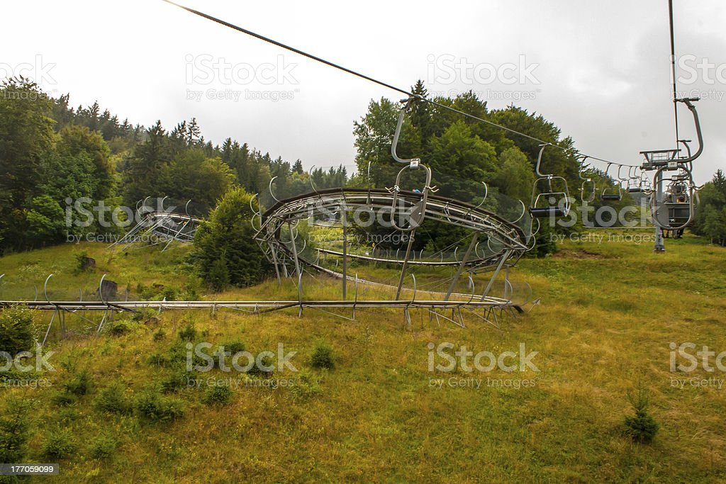 Roller coaster in the Black forest Germany Todtnau. royalty-free stock photo