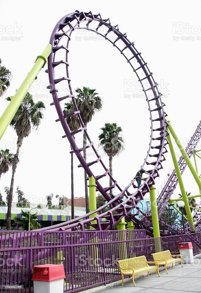 Roller coaster loop royalty-free stock photo