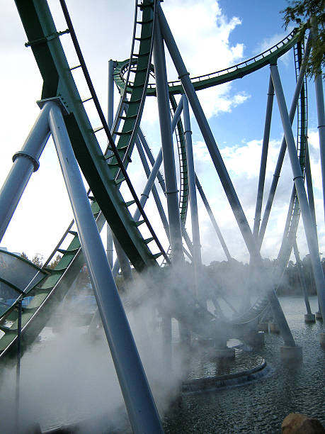 Roller Coaster on the Water in Orlando stock photo