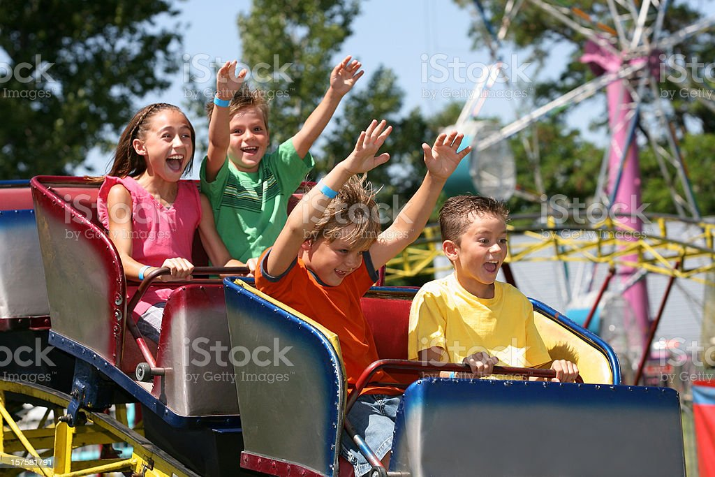 Roller Coaster royalty-free stock photo