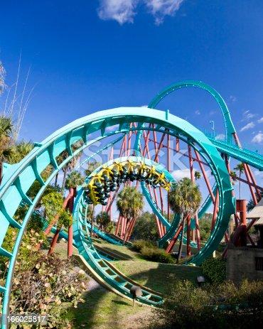Roller coaster in Tampa, Florida