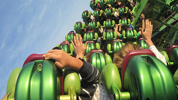 roller coaster - orlando florida photos stock photos and pictures