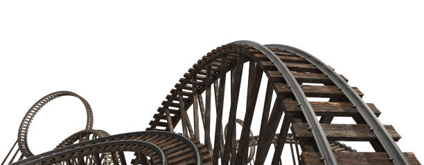 roller coaster - roller coaster stock pictures, royalty-free photos & images