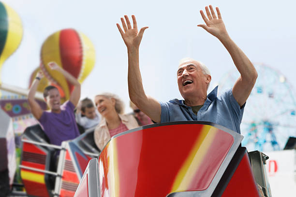 roller coaster ride - roller coaster stock pictures, royalty-free photos & images