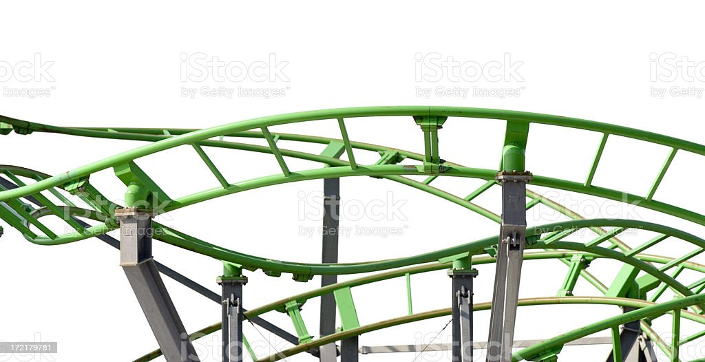 Roller Coaster Track Isolated royalty-free stock photo