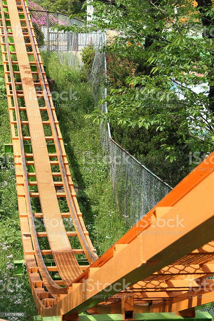 Roller Coaster Track royalty-free stock photo