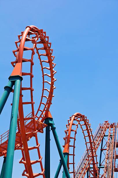 montaña rusa pista - roller coaster fotografías e imágenes de stock