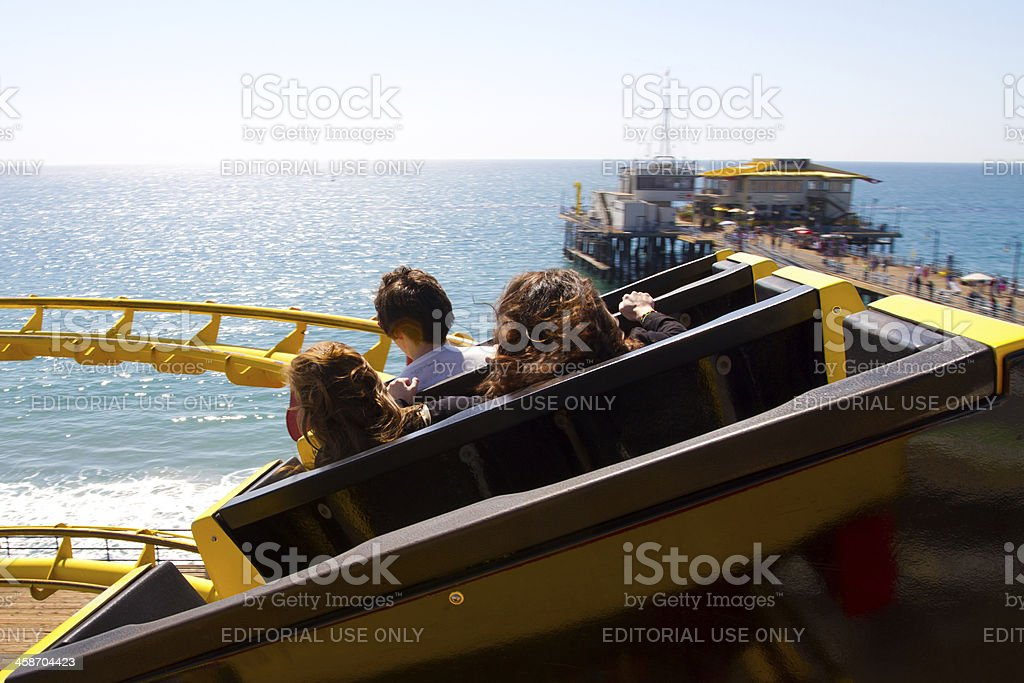 Roller Coaster View at Pacific Park royalty-free stock photo