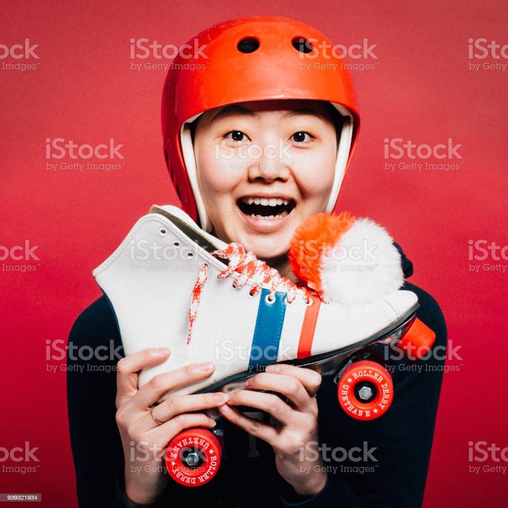 Roller Derby Girl stock photo