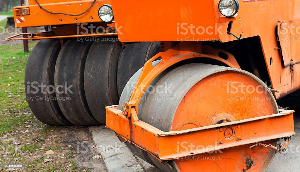 roller for road stock photo