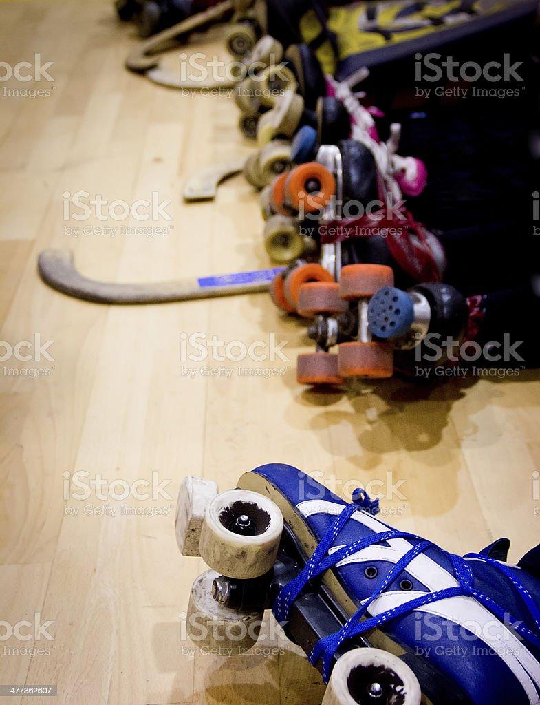 roller hockey detail stock photo