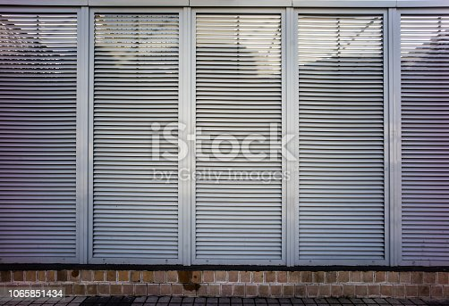 istock Roller shutter texture, usable for graphic design or print 1065851434