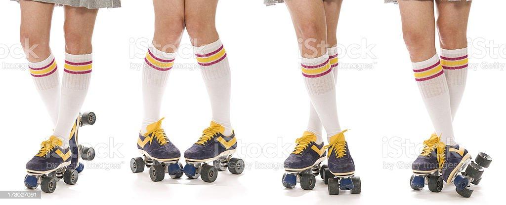 Roller Skate Poses stock photo