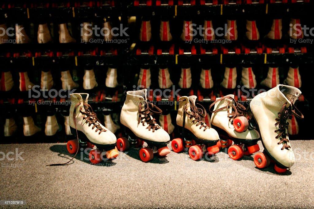 Roller Skate Rental Counter stock photo